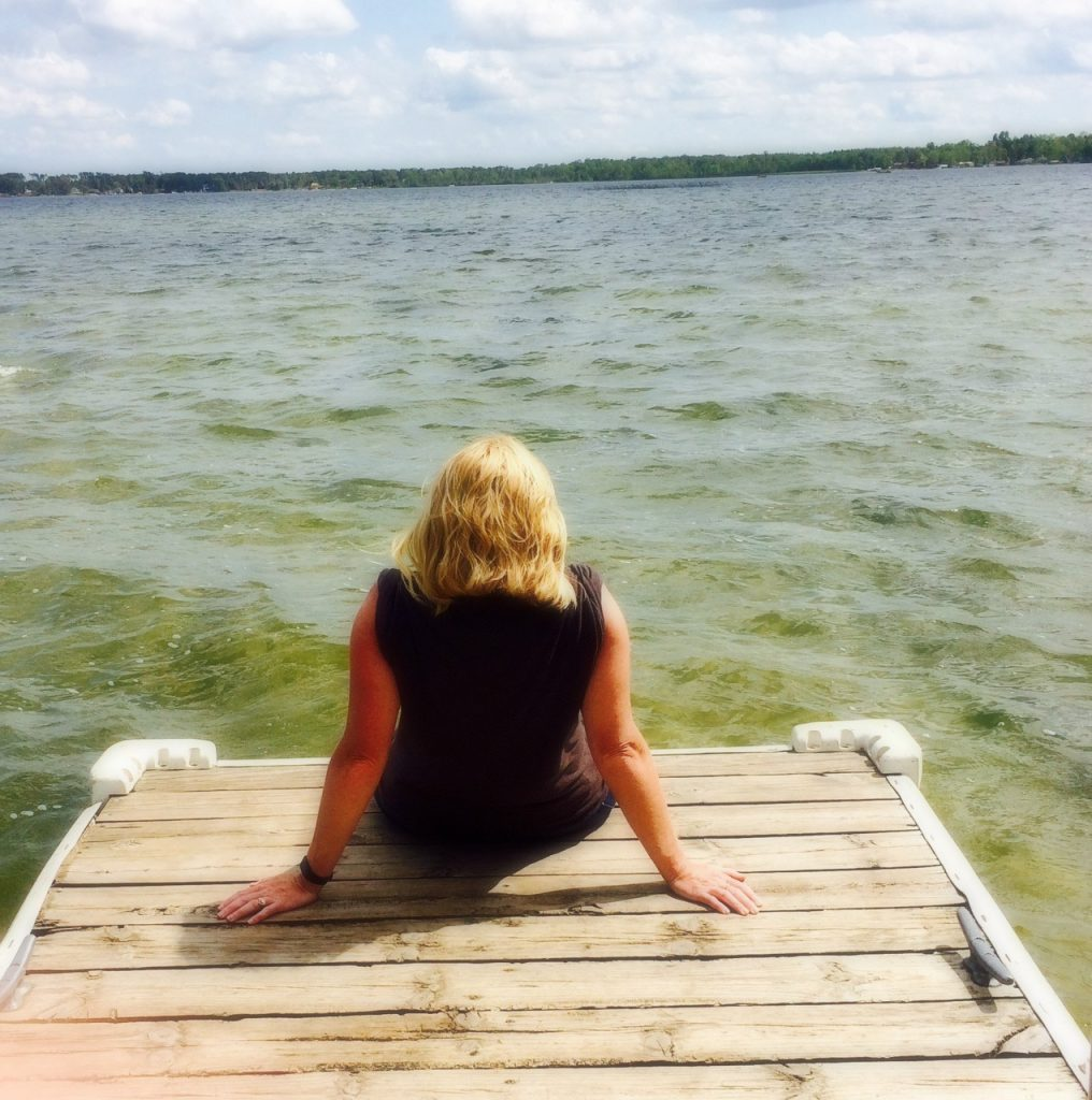 woman on dock